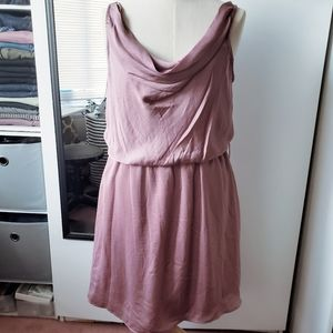 *NEW* Dusty Pink Satin-Like Party Dress (Sz L)